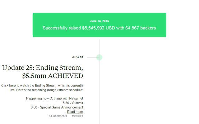 IGA氏新作「Bloodstained」が最終的にKickstarterで5,545,992ドル(約日本円で6.8億)を集めて終了