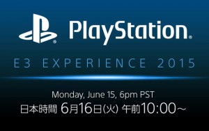 PlayStation E3 EXPERIENCE 2015 Press Conference