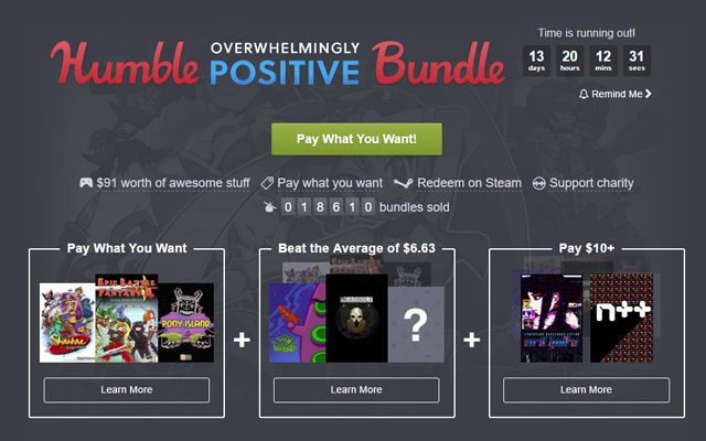 Humble Postive Bundle