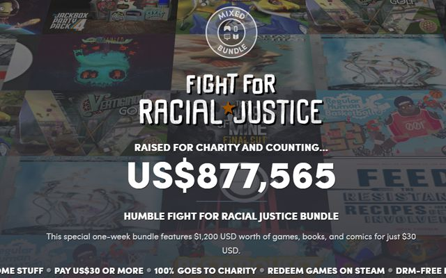 """[Humble Bundle]""""Hyper Light Drifter""""""""Titan Quest""""""""FTL""""""""This War of Mine""""などを多くのゲームや書籍を同梱した「Fight for Racial Justice Bundle」が開始"""