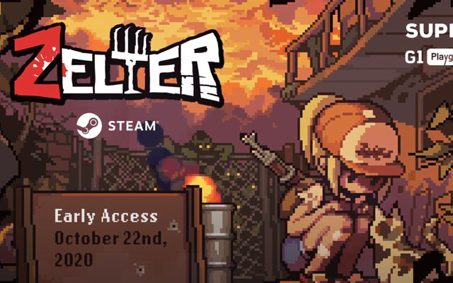 2Dドットゾンビサバイバル「Zelter」のSteam早期アクセスが2020年10月22日に決定
